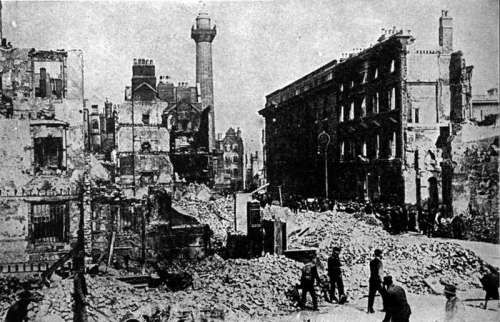 Sackville Street  in Dublin, Ireland in 1916 in World War I free photo