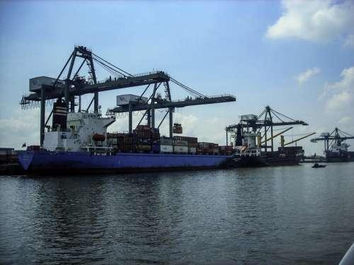 Saigon Port in Vietnam free photo