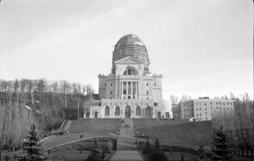 Saint Joseph's Oratory Dome under construction in 1937 in Montreal, Quebec, Canada free photo