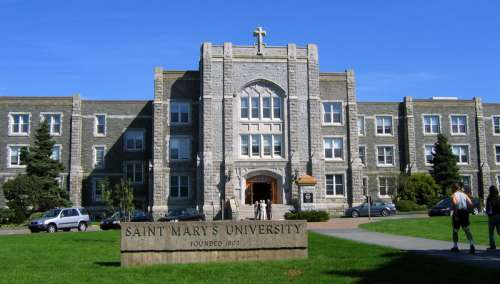 Saint Mary's University, main entrance in Halifax, Nova Scotia, Canada free photo