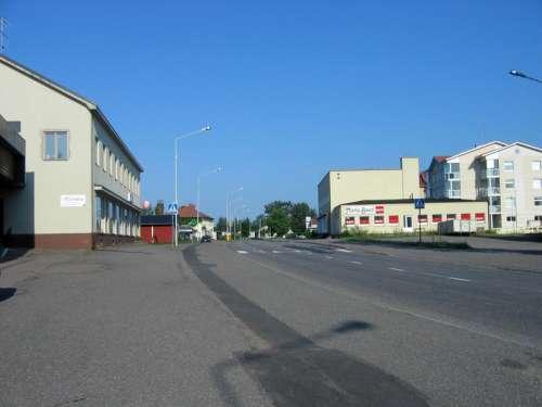 Säkylä centre and street in Finland free photo