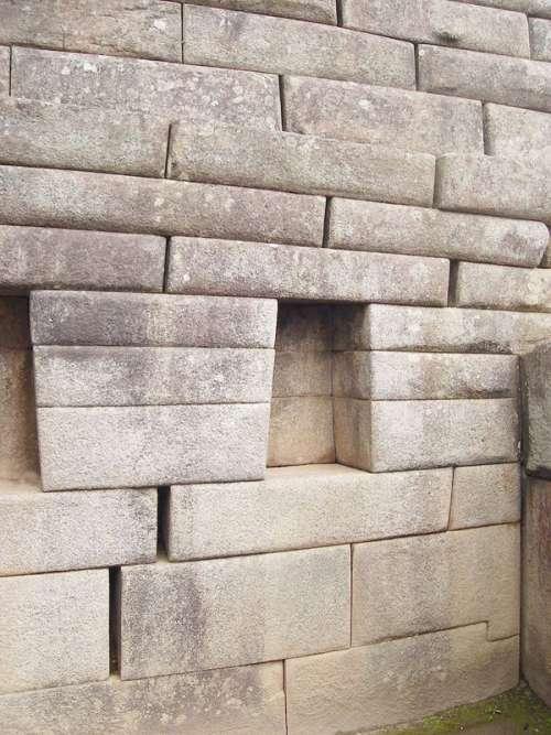 Sala de reuniões fort walls in Machu Picchu, Peru free photo