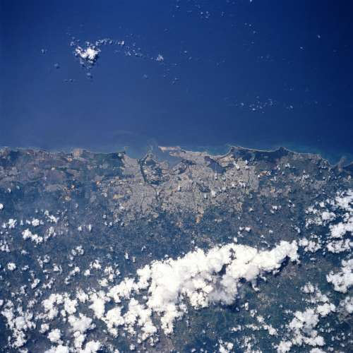San Juan from space in Puerto Rico free photo
