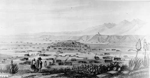 Illustration of Santa Fe, New Mexico 1846 free photo