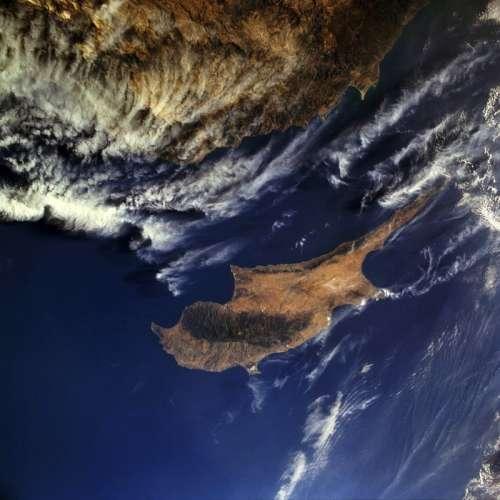 Satellite Image of Cyprus free photo
