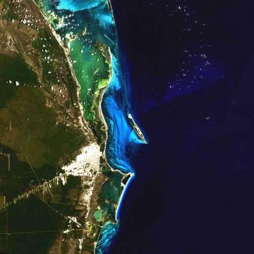 Satellite Image of Cancun, Mexico free photo