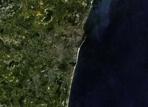 Satellite Image of Chennai, India free photo