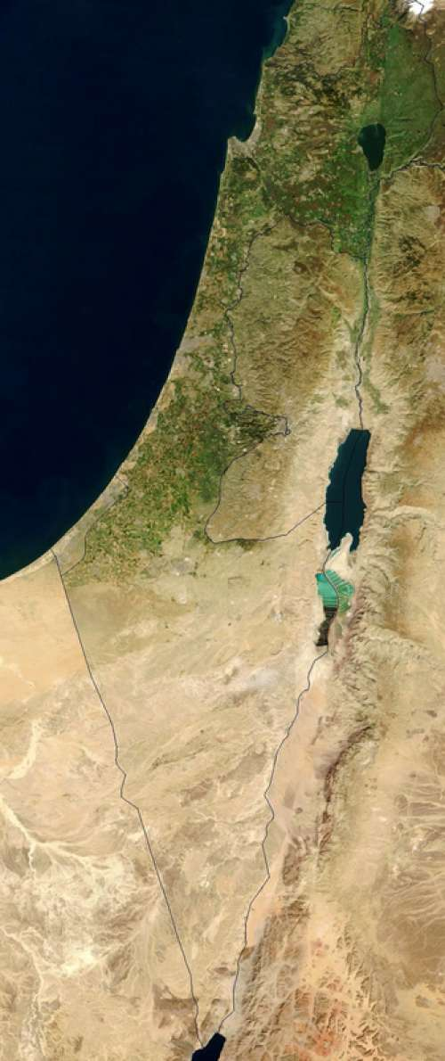 Satellite Image of Israel free photo
