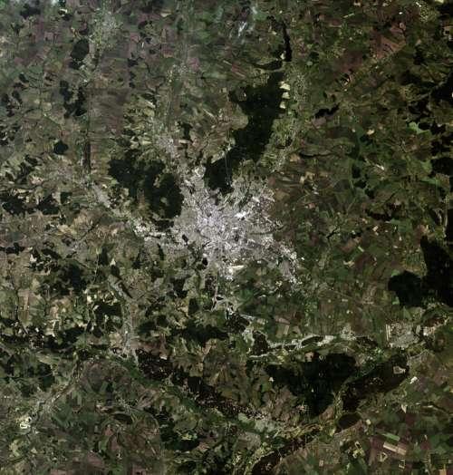Satellite Image of Kharkiv, Ukraine free photo