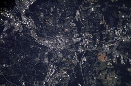 Satellite Image of Raleigh, North Carolina free photo