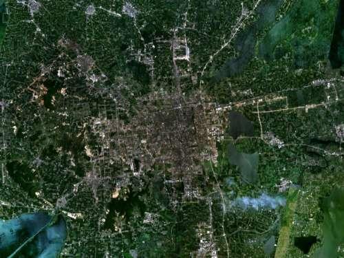 Satellite Image of Suzhou, Jiangsu, China free photo