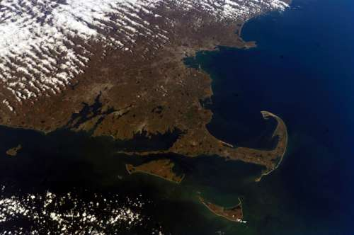 Satellite View of Cape Cod, Massachusetts free photo