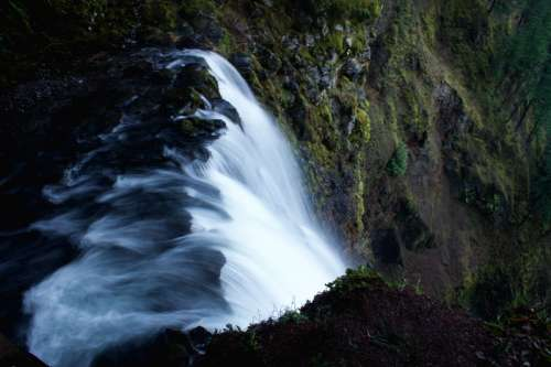 Scenic Waterfall in Portland, Oregon free photo
