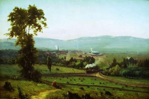 Scranton landscape in 1855 in Pennsylvania free photo