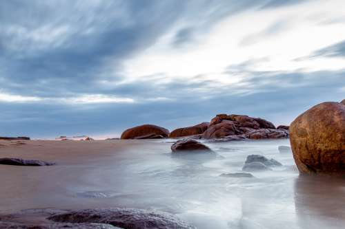 Seashore landscape in South Africa at Park Rynie free photo