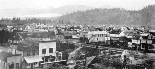 Sedro-Woolley in 1906 in Washington vintage free photo