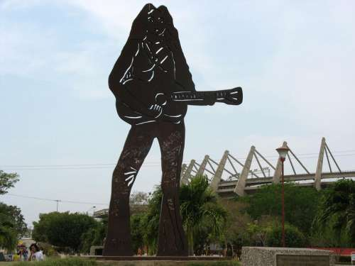 Shakira Singer Statue in Baranquilla, Colombia free photo