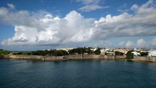 Shoreline of old San Juan, Puerto Rico free photo
