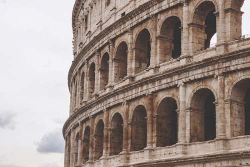 Side of the Roman Colosseum free photo