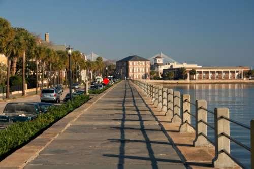 Sidewalk by the Water at Charleston, South Carolina free photo