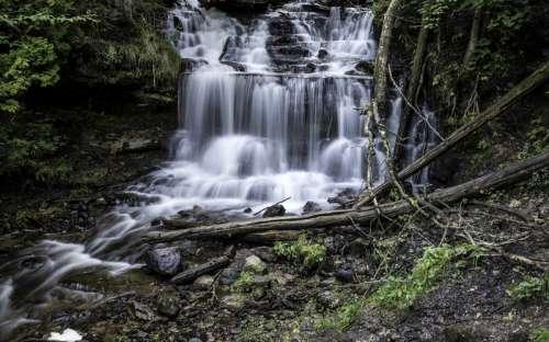 Silky Waterfalls at Wagner Falls in Michigan free photo