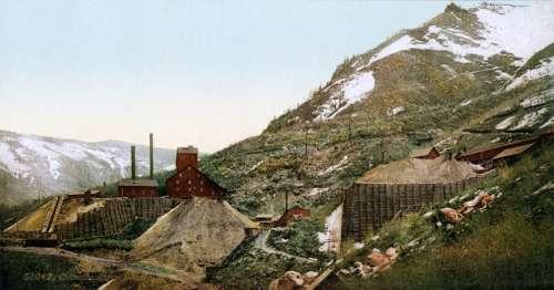 Silver Mines in Aspen, Colorado in 1898 free photo
