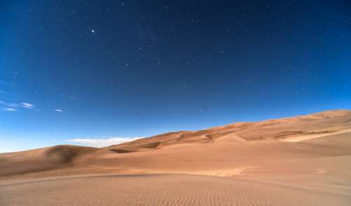 Sky and Stars at Night above the Desert landscape in Colorado free photo