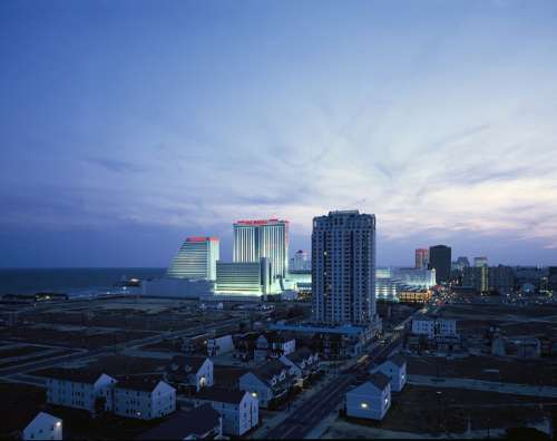 Skyline and Cityscape of Atlantic City, New Jersey free photo