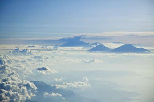 Skyscape above the Clouds in Indonesia free photo