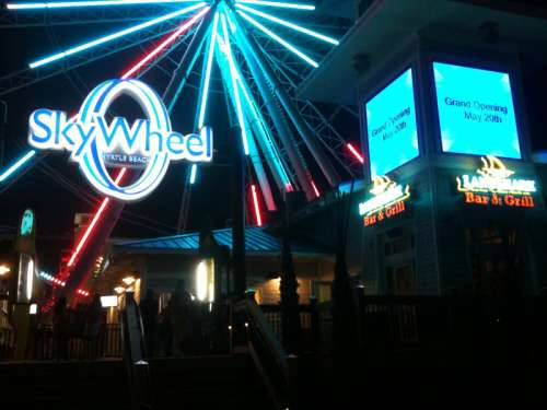 Skywheel at Night in Myrtle Beach, South Carolina free photo