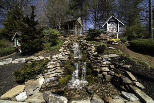 Small Cascades by the road in Alpine Helen, Georgia free photo