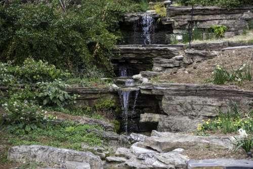 Small Waterfalls in Duke Gardens in Durham, North Carolina free photo