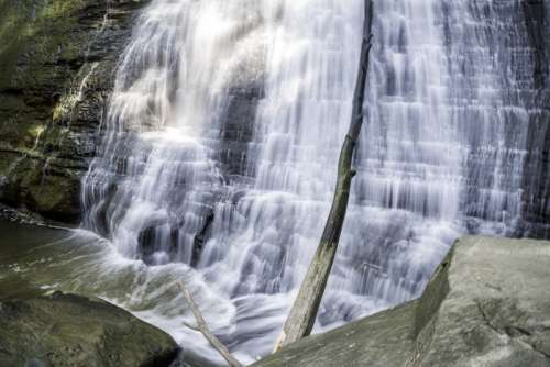 Smooth flowing bottom of Brandywine Falls in Cayuhoga Valley National Park, Ohio free photo