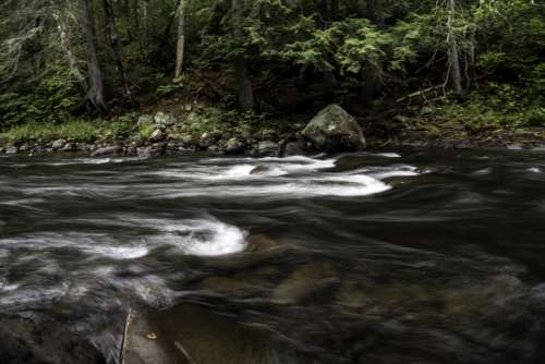Smooth Whiskey Rapids at Algonquin Provincial Park, Ontario free photo