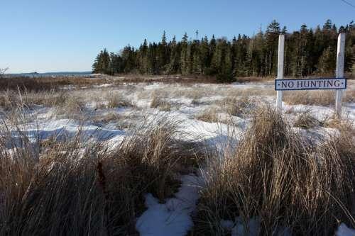 Snowy landscape in the winter in Nova Scotia free photo