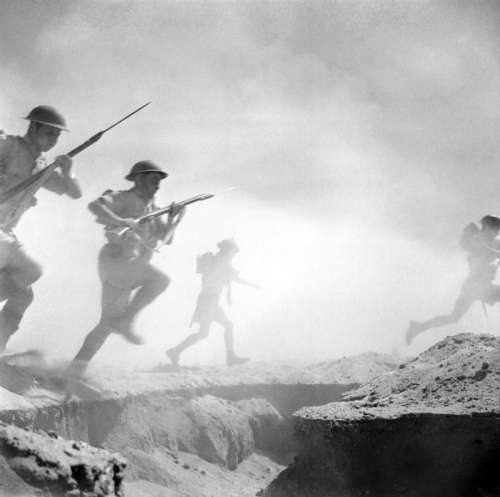 Soldiers of the 9th Australian Infantry Division on the attack, Second Battle of El Alamein free photo