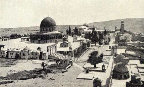 Solomon temple as of before 1910 in Jerusalem, Israel free photo