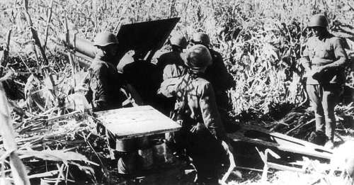 Soviet gun crew in action at Odessa in 1941 in Ukraine free photo