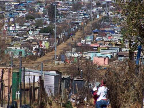 Soweto housing in Johannesburg, South Africa free photo