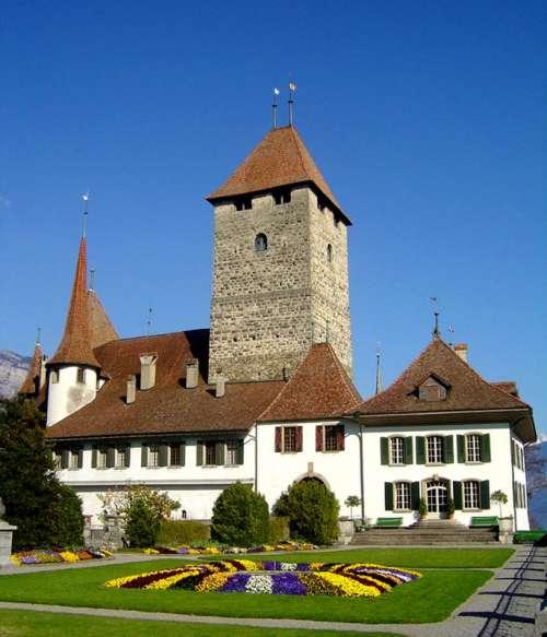 Spiez Castle in Switzerland free photo