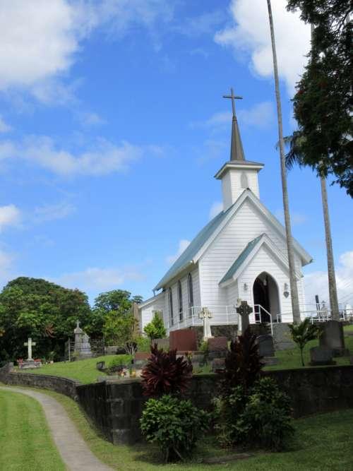 St. Augustine's Episcopal Church in Kapaau, Hawaii free photo