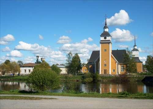 St. Birgitta Church in Nykarleby, Finland free photo