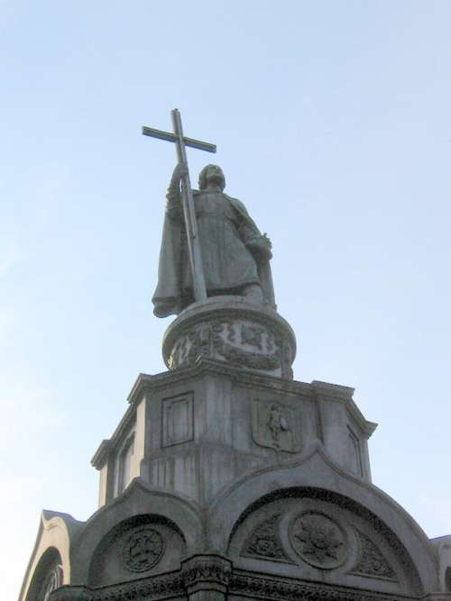 St. Volodymyr statue and monument in Kiev, Ukraine free photo