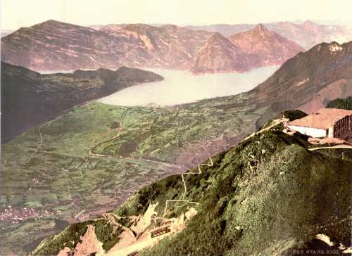 Stans from the Stanserhorn Around 1900 in Switzerland free photo