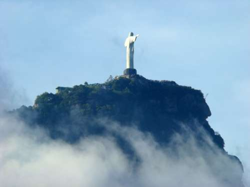 Statue of Christ on a hill in Malaysia free photo