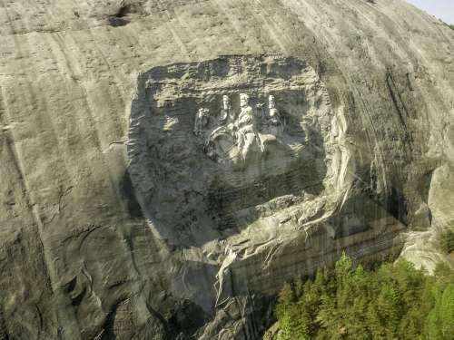 Stone Mountain - Robert E. Lee in Atlanta, Georgia free photo