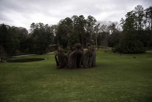 Strange structure in the middle of the Duke Gardens in Durham, North Carolina free photo