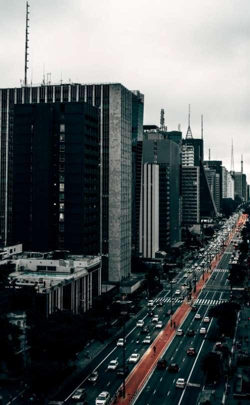 Streets and buildings of Sao Paulo, Brazil free photo