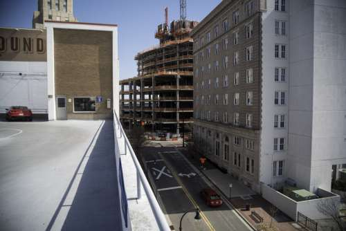 Streets, buildings, and construction in Durham, North Carolina free photo