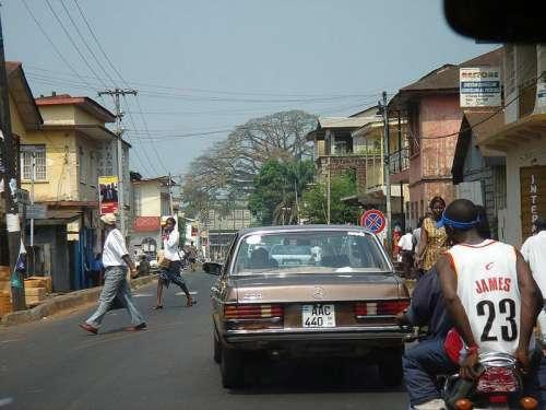 Streets of Freetown, Sierra Leone free photo